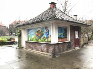 Denkmalgeschützer Kiosk