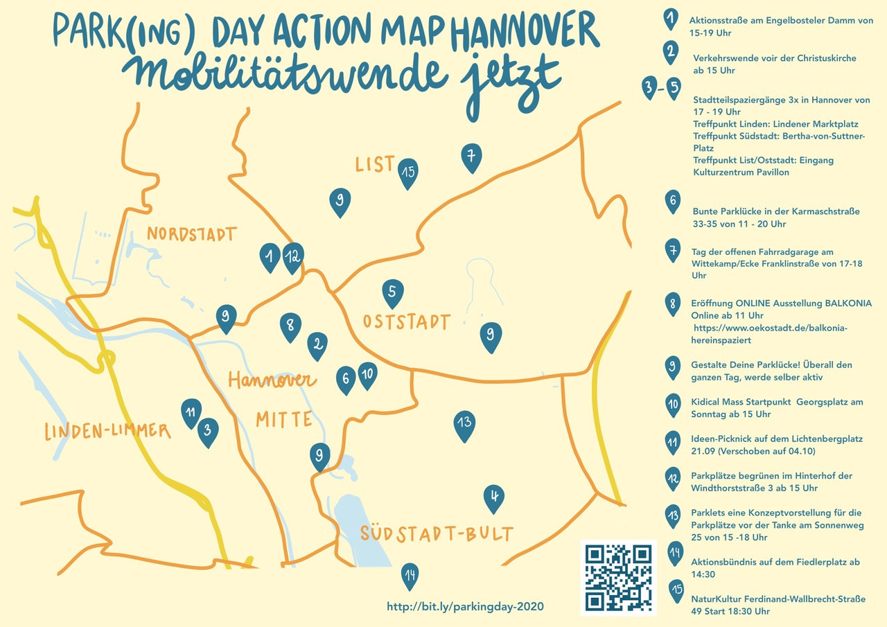Park(ing) Day Action Map