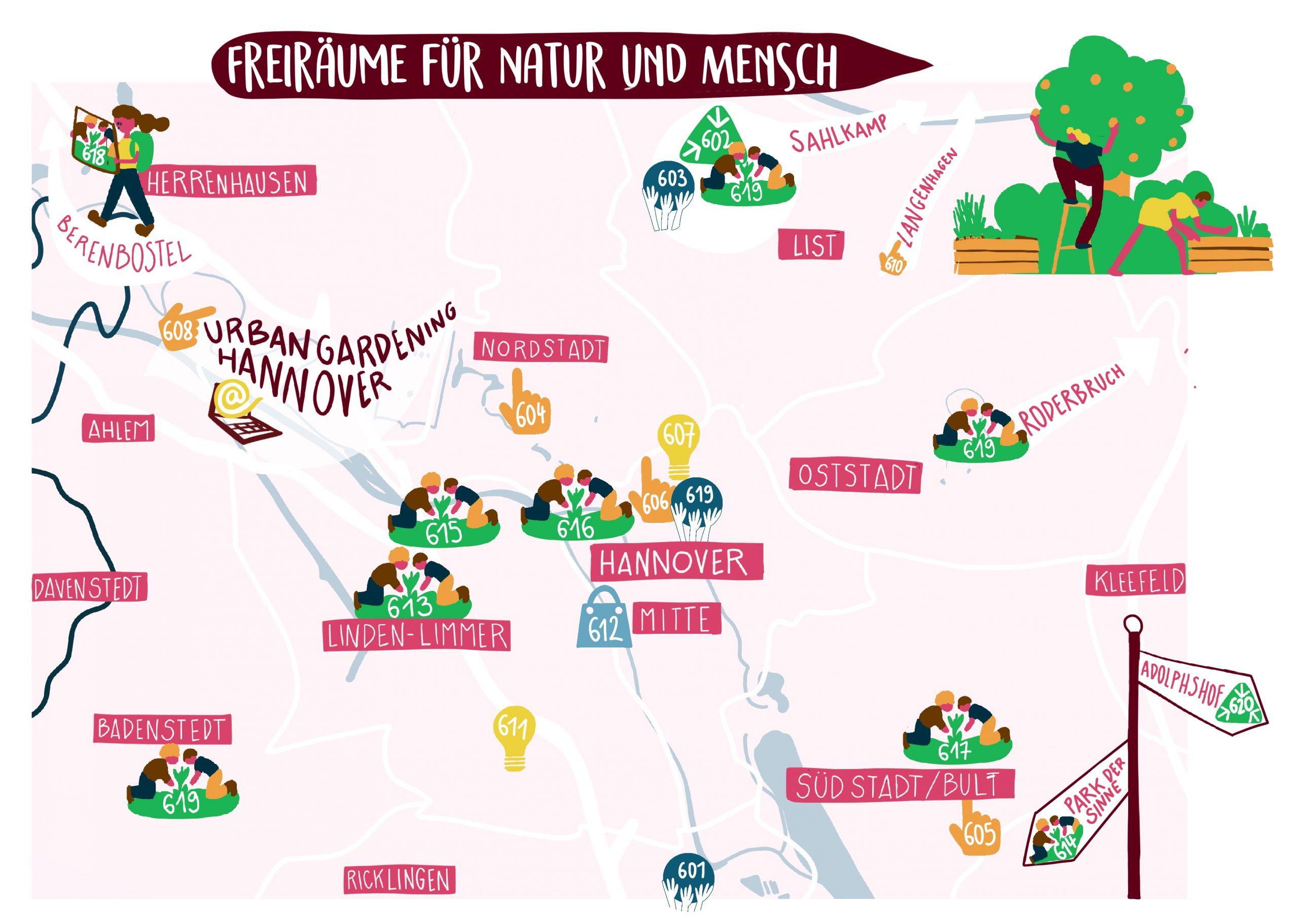 Karte Freiräume