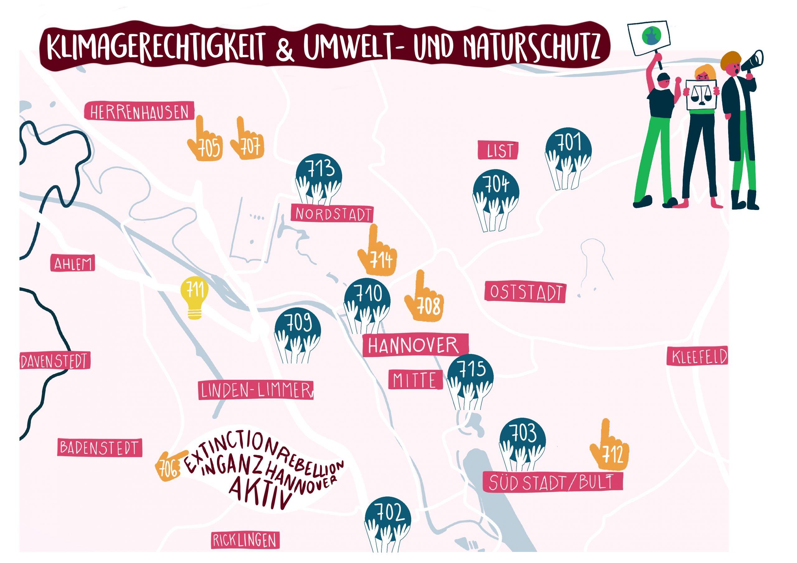 Karte Klimagerechtigkeit